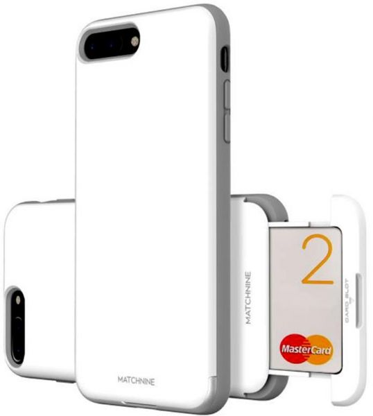 reputable site 2f160 72ddc Apple iPhone 8 Plus matchnine Cardla Slot Back Case Cover - White