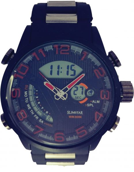 SILMSTAR Casual Watch For Men Analog-Digital Synthetic .