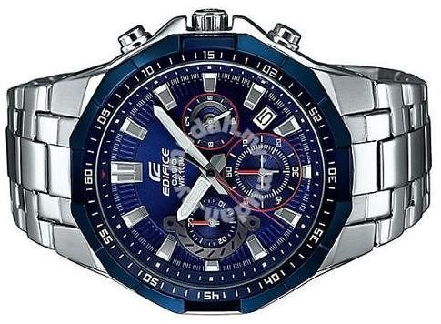 Casio Edifice Men Blue Stainless Steel Casual Watch Efr 554rr