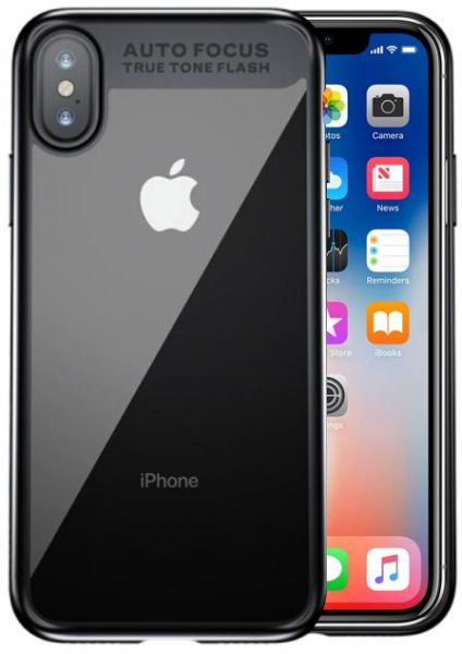 Apple Iphone X Baseus Suthin Back Case Cover - Clear & Black