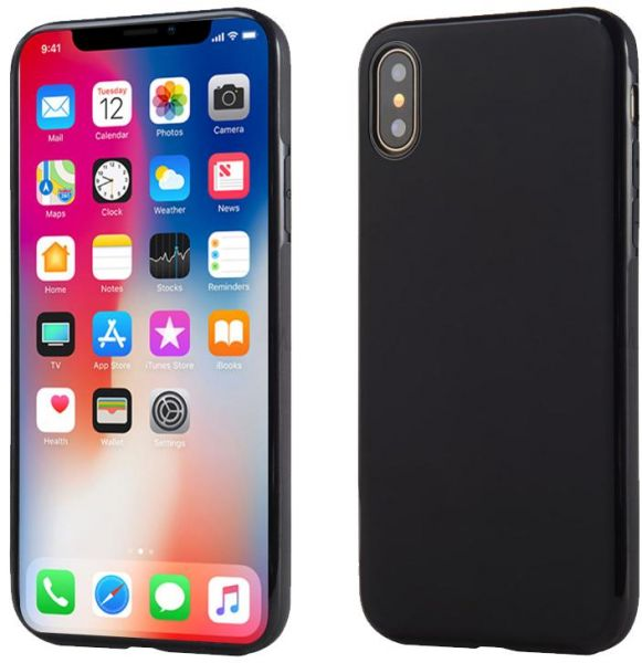 the best attitude 8b8af 35988 Apple iPhone X Sulada Soft TPU Back Case Cover - Black | KSA | Souq