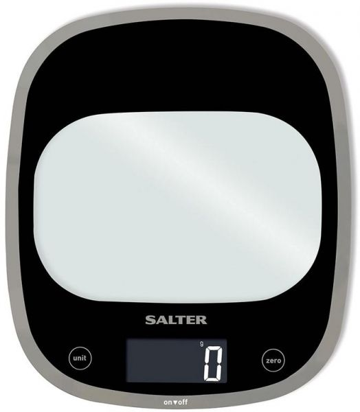 Salter Curve Glass Electronic Digital Kitchen 5 kg Scales White 1050 WHDR