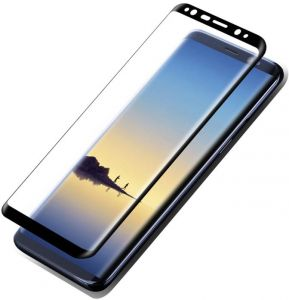"""DOWIN 0.1mm Soft PET 3D Curved Full Cover HD Screen Protector For Samsung Galaxy S8 Protective Guard Film PLUS (6.2"""") -BLACK"""