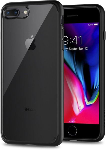 iPhone 8 Plus / 7 Plus Case , Spigen Ultra Hybrid 2nd Generation with Clear  Backing Black
