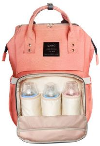 Multi-Function Waterproof Travel Backpack Nappy Bags for Baby Care, Large  Capacity, Stylish and Durable, Mom Bag by Lifecolor (Orange Pink) a99d892d290