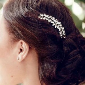 Clear Leaves Crystal Hair Combs Classic Fashion Women Hair Jewelry