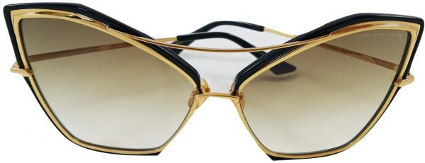 ea23afbca67d DITA CREATURE LADIES SUNGLASSES GOLD BRUSHED FRAME WITH BROWN TO ...