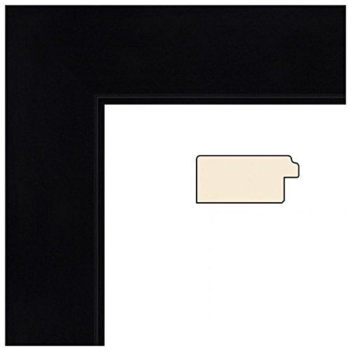 Souq | ArtToFrames 24x28 inch Satin Black Flat top w/ Step Lip Wood ...