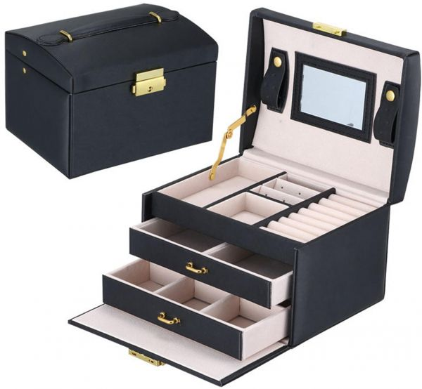 Souq | Noble Black - Europe Style High-end Jewellery Storage Box 3 Layers Jewellery Gift Cases | UAE  sc 1 st  Souq.com & Souq | Noble Black - Europe Style High-end Jewellery Storage Box 3 ...