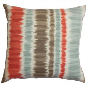 Fantastic The Pillow Collection P18Flat D 42248 Poppyred C100 Odile Stripes Throw Pillow Cover 18 X 18 Gmtry Best Dining Table And Chair Ideas Images Gmtryco