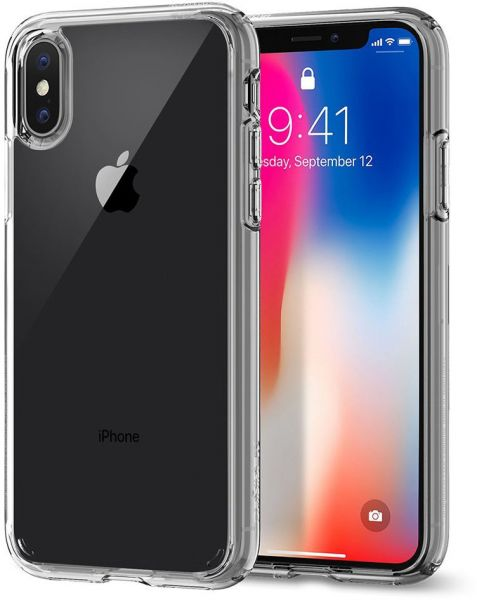 Spigen iPhone X Ultra Hybrid cover / case - Crystal Clear