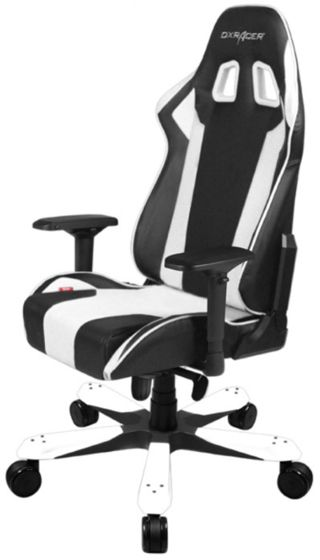 Fine Dxracer Gaming Chair King Series Black And White Gc K06 Nw S1 Machost Co Dining Chair Design Ideas Machostcouk