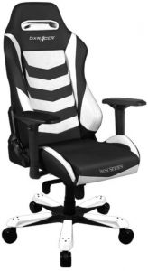 Astonishing Dxracer Gaming Chair Iron Series Black And White Gc I166 Nw S2 Machost Co Dining Chair Design Ideas Machostcouk