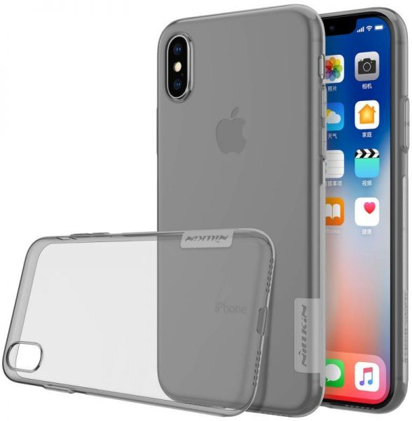 Buy NILLKIN NATURE TPU BACK COVER FOR IPHONE X GREY in Egypt