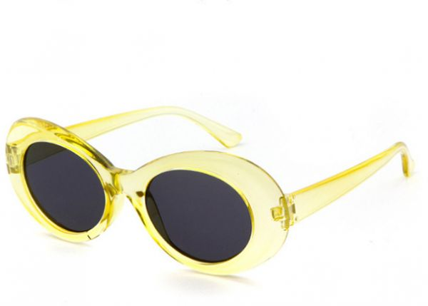 Buy Fashion Transparent yellow frame voal vintage UV400 sunglass ...