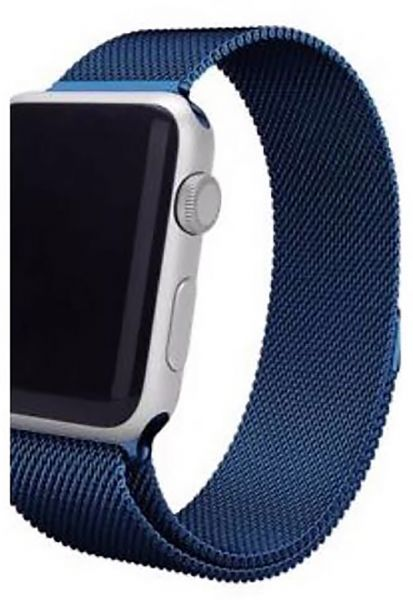 detailed look ffebb 80c49 Stainless Steel Band Strap with Screen Protector for 42mm Apple Watch, Blue