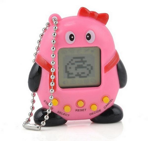 Electronic Pets 168pets 90s Nostalgic Virtual Pet Musical Cyber Pet Digital Pet Tamagotchi Penguins E-pet Gift Toy Mini Handheld Game Machine