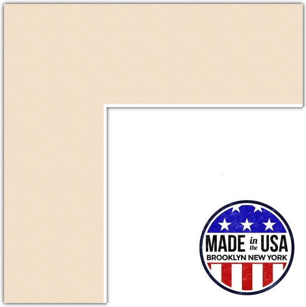 Souq | 11x18 Beige / French Creme Custom Mat for Picture Frame with ...