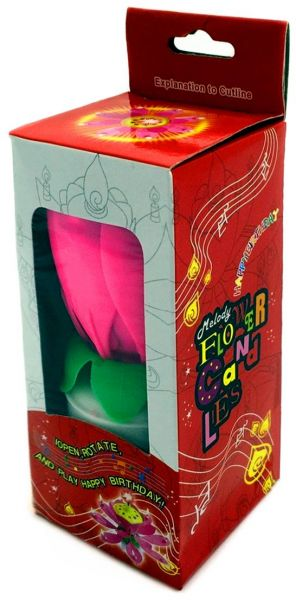 Melody Birthday Candle Lamp Music Blossom Lotus Flower Electric