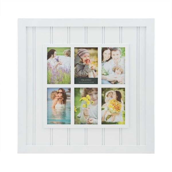 Melannco 6-Opening Plastic Window Collage Frame, White, 20-Inch ...