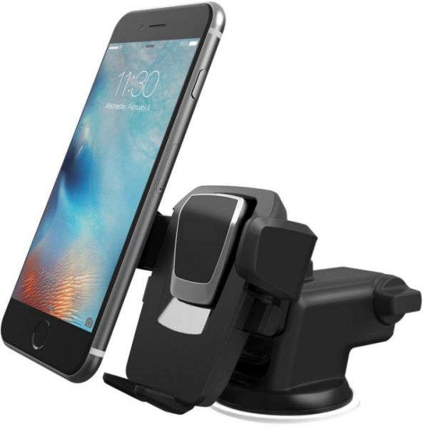 promo code 81843 ce6a2 Easy One Touch 3 Car Mount Universal Phone Holder for Apple iPhone 8 Plus  and Samsung Galaxy S7 Edge Note 8 Huawei - Silver
