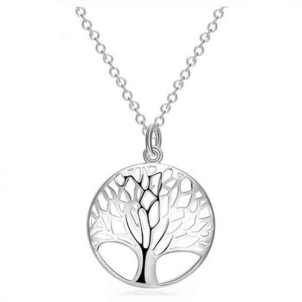 Classic Tree of Life Sterling Silver Pendant Necklace  60d143507