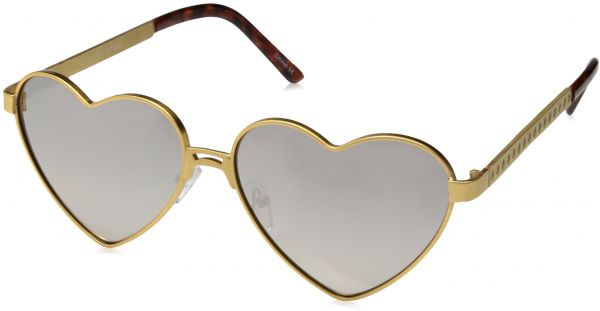 8d0c0a036f13 zeroUV Women s Cute Fashion Wire Metal Inset Lens Love Lolita Heart Shaped  Aviator Sunglasses