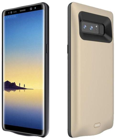 Samsung Galaxy Note 8 Battery Case , Portable Rechargeable Extended Backup  Battery Charging for Samsung Galaxy Note 8 Smartphone - Gold Color