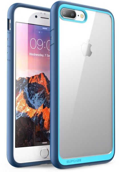 buy popular 3a9e4 4a584 iPhone 8 Plus Case, iPhone 7 Plus Case, SUPCASE Unicorn Beetle Style Hybrid  Protective Clear Mobile Cover Clear and Navy