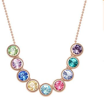 Colored multiple round necklaces