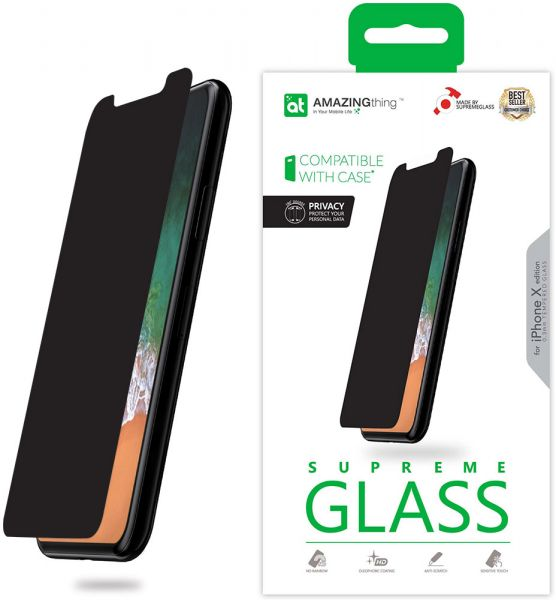 huge selection of 10fb2 58fb6 Amazing Thing iPhone X PRIVACY Glass Screen Protector - Supreme Glass
