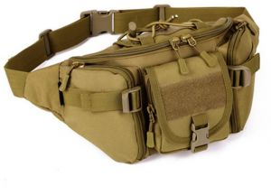 caec1151f0 Military Cycling Waist Fanny Pack Bum Belt Bag Pouch Outdoor Travel Hip  Purse Wolf Brown