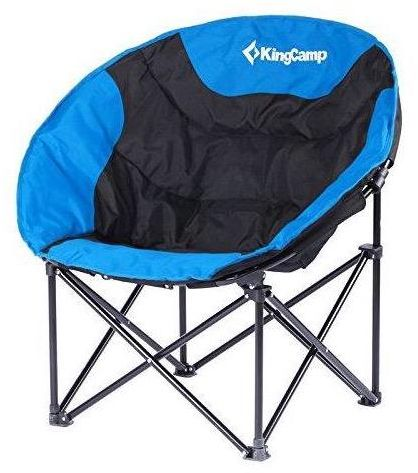 Kingcamp Moon Saucer Camping Chair Steel Frame Folding Padded Round