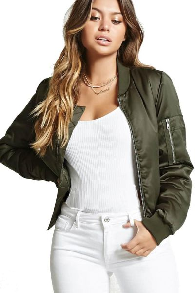 a1c80e49c Forever 21 Bomber Jacket For Women Price in Egypt | Souq | Jackets ...