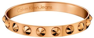 1b85170b1c Calvin Klein Jeans Jewelry Women s Stainless Steel Rose Gold Pvd Coated  Bangle Bracelet