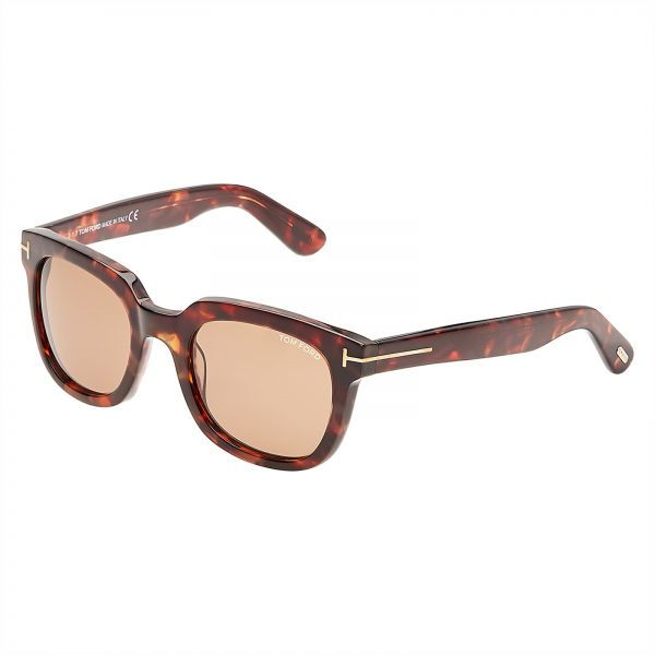 d28ff48e6 Tom Ford Campbell Wayfarer Sunglasses for Women - Brown Lens, FT0198-56J