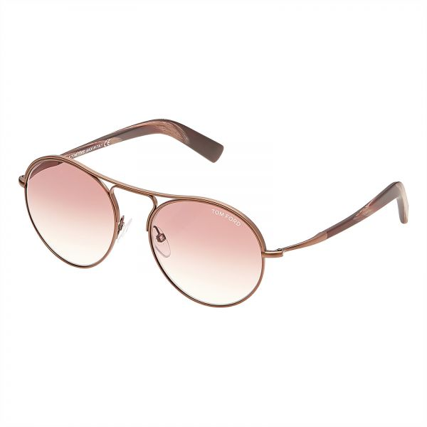 cf64a8a1c5 Tom Ford Jessie Oval Unisex Sunglasses - Brown Gradient Lens