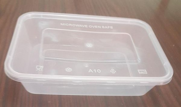 500ml Rectangular Microwaveable disposable food storage container