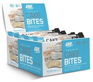 Optimum Nutrition Protein Cake Bites Whipped Snack Bar Flavor Birthday 12 Count