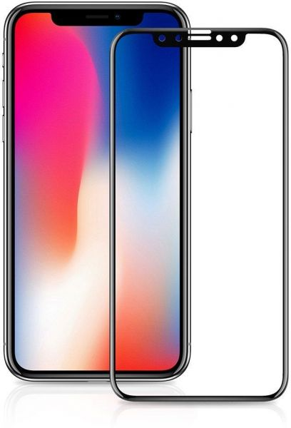 online retailer f067a 2c153 IPhone X Tempered Glass Film, steanum Invisible Shield HD Screen Protector  for IPhone X (9H Hardness, 6D Curved-edge, Smooth Touch, High Transparency)  ...
