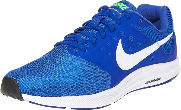 dcc11e2b0bdd8 Nike Downshifter 7 Running Shoes For Men - White   Blue Price in ...