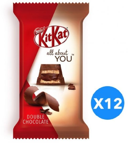 Kitkat All About You 5 Finger Double Chocolate Wafer, 43g – Pack of 12