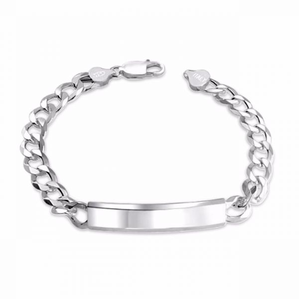 Sterling 925 Silver Bracelet For Men 9mm Bracelets Kanbkam Com