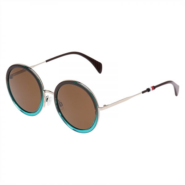 1301a3a644 Tommy Hilfiger Round Women s Sunglasses - TH 1474 S-AGD5370 - 53-23-140mm
