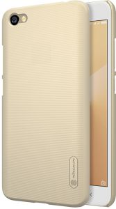 XIAOMI RedMi Y1 ( Note 5A ) Nillkin Super Frosted Shield case cover with screen protection film Gold