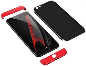 4eeb756d7 Iphone 6 Plus GKK Case 360 Degree 3 in 1 Full Body Protection Hard PC Cover  - Black Red