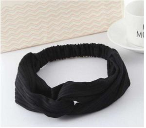 38bbe01a159b32 Twist Turban Headband for Women Bows Elastic Sport Hairbands Head Band Yoga  Headbands Headwear Girls Hair Accessories