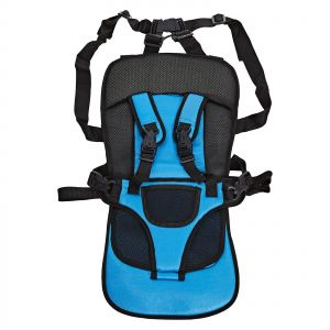 Portable Multi Function Baby Car Safety Seat Chair Cushion Blue And Black