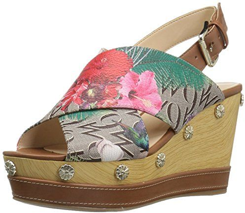 dab9f7752d5 Nine West Wedge Sandals for Women - Multi Color Price in Saudi ...
