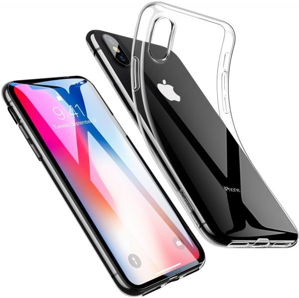Back THICK TRANSPARENT COVER FOR IPHONE X